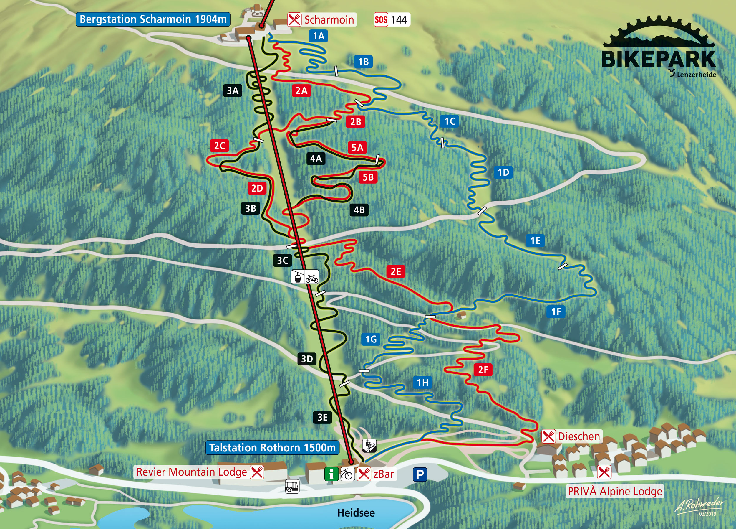 Lenzerheide Bike Park Karte Map
